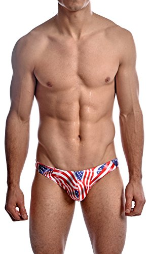 Gary Majdell Sport Men's USA American Flag Thong Swimsuit USA Flag - Suit Usa Manufacturers