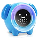 KNGUVTH Kids Alarm Clock Children Sleep Training...