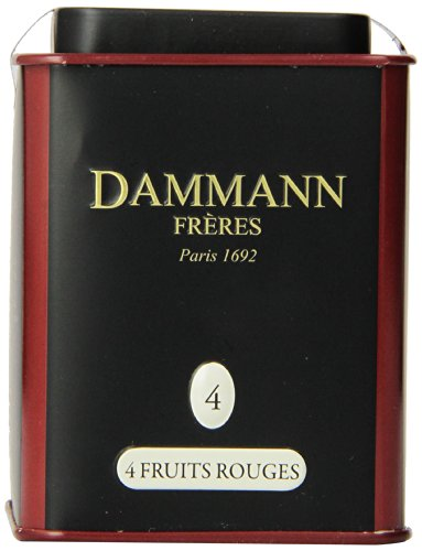 DAMMANN FRERES Quatre Fruits Rouges Loose Tea, 3.5 Ounce Tin by Dammann Freres