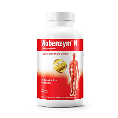 Wobenzym - Wobenzym N - Authentic German Formula Designed to Promote Healthy Joints and Muscles* - 400 Tablets (Wobenzym N 800 Best Price)