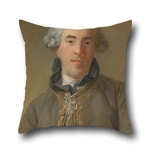 Pillowcover 20 X 20 Inch / 50 By 50 Cm(twice Sides) Nice Choice For Bar,bf,bedroom,bedroom,study Room,drawing Room Oil Painting Jean-Baptiste Perronneau (French - Portrait Of Théophile Van Robais - Memphis Lounger