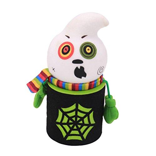 Cupcinu Halloween Candy Jar Ghost Cookie Jar Jar Kids Halloween Home Party Bar Decoration Cosplay Prop 1piece(Ghost)
