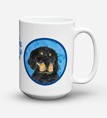 Caroline's Treasures SS4791-BU-CM15 Gordon Setter Microwavable Ceramic Coffee Mug, 15 oz, ()