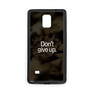 Samsung Galaxy Note 4 Cell Phone Case Black quotes dont give up LV7998489