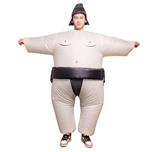 THEE Sumo Inflatable Costume Halloween Party Cosplay Fat Inflatable Wrestler Suit -