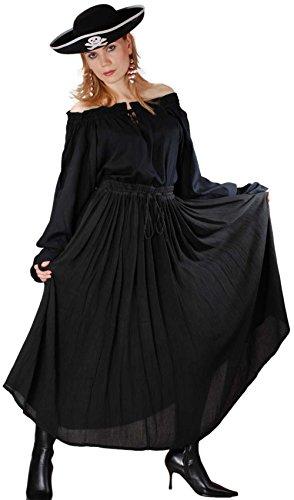 Medieval Renaissance Pirate Grace O'Malley Skirt Costume [Black] ()