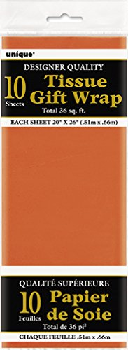 Orange Tissue Paper Sheets 10ct