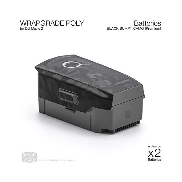 WRAPGRADE Skin Compatibile con DJI Mavic 2 | 2 Batterie (Black Bumpy Camo) 2 spesavip