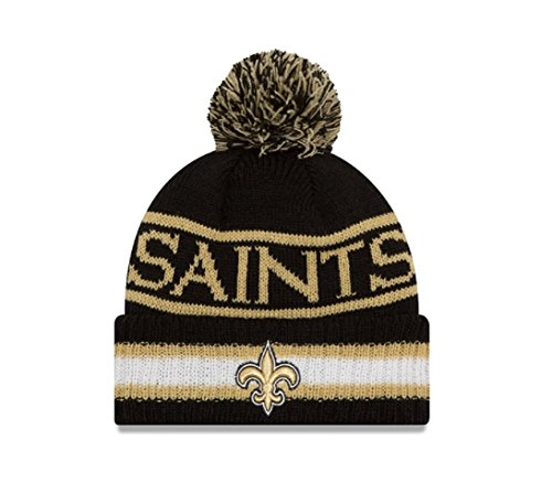 New Era Knit New Orleans Saints Biggest Fan Redux Sport Knit Winter Stocking Beanie Pom Hat Cap NFL (Saints Stocking Cap compare prices)