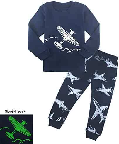AmberEft Boys Pajamas Kids Clothes Toddler PJs Sets Long Sleeve Sleepwear  Size 2-8 a7ab011fe