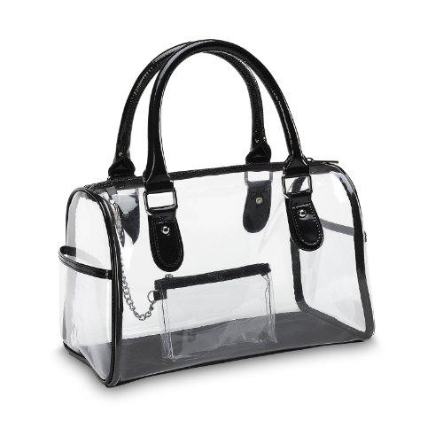 Designer Inspired Clear Satchel Handbag, Bags Central
