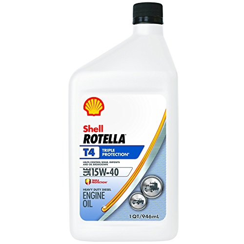 Rotella T4 Triple Protection Diesel Motor Oil 15W-40 CK-4, 1 Quart - Pack of 6