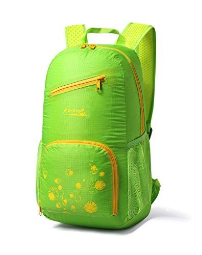 Makino Ultralight Foldable Travel Backpack Outdoor Shoulders Bag 22L Green