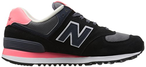 New Balance Damen Wl574cpl Laufschuhe Mehrfarbig (Black/Pink 018Black/Pink 018)
