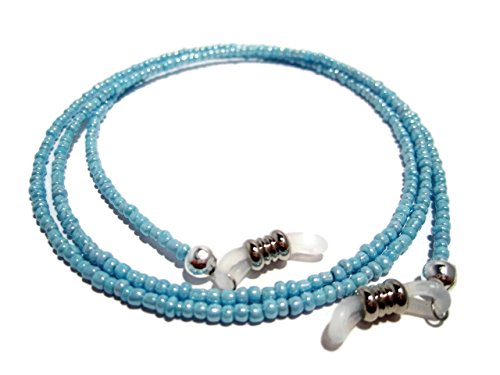 ATLanyards Light Sky Blue Beaded Eyeglass Holder - Holder for Glasses