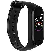 Smart Bracelet M4 Wrist Band, Fitness Tracker, Water Proof & Heart Rate Monitor (Black)