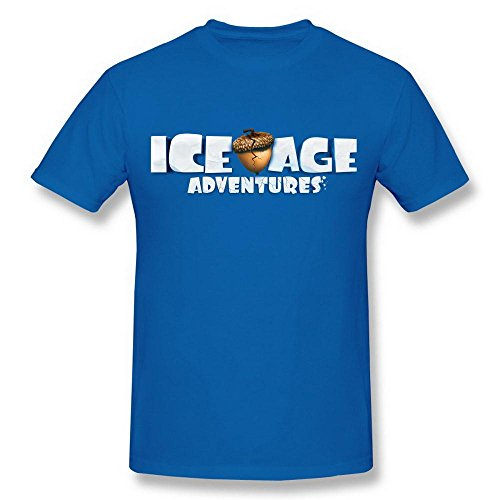 Men's 3D Ice Age Movie Poster Logo RoyalBlue T Shirt -