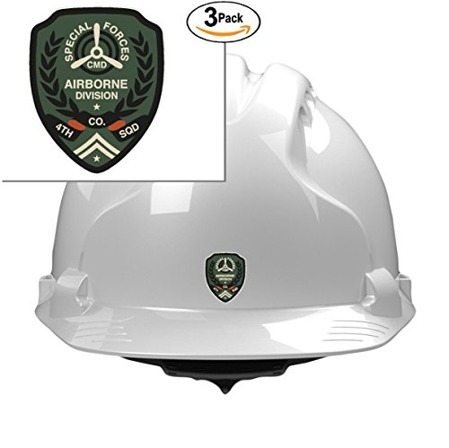 Special Airborne DIV construction hardhat toolbox symbol love humor america united states color sticker state decal vinyl - Made and Shipped in USA (Div Decal)