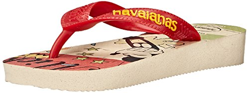 Havaianas Disney Stylish Sandal Flip Flops (Toddler/Little Kid), Beige/Red, 25-26 BR(10 M US - Sale Havaiana