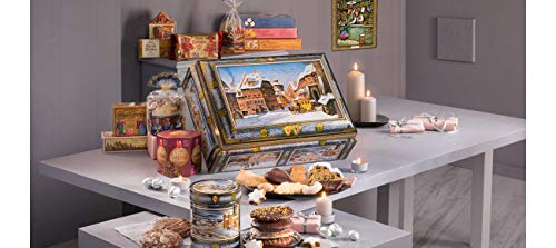 2019 Lebkuchen Schmidt Festive Extra Large Chest: Filled with German Cookies, Biscuits, Stollen, Gingerbread, 6.2lbs