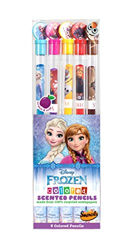 Disney Frozen Colored Smencils 5-Pack of Scented Colored Pencils