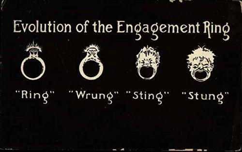 Evolution of Engagement Ring Original Vintage Postcard