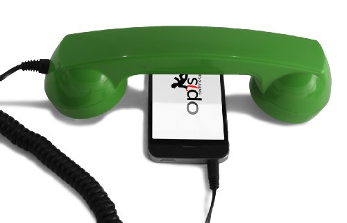 OPIS 60s Micro: Retro handset/Vintage handset/Retro Receiver/Mobile handset for iPhone, Galaxy, Huawei and All Modern Smartphones (Green)