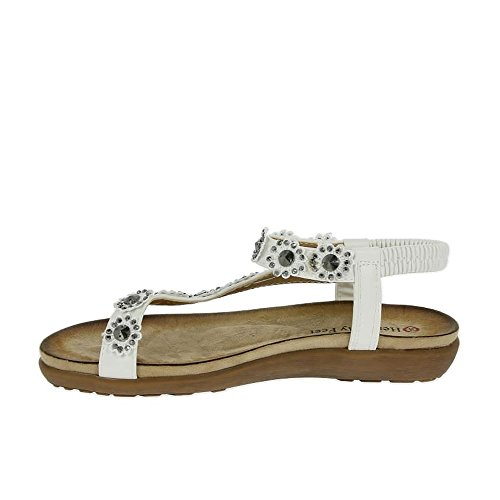 Heavenly Feet - Sandalias de vestir para mujer blanco