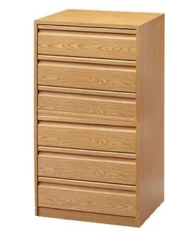 Cajonera para armario en 6 cajones Montada, dimensiones (50 ancho x 50 fondo x 106,5 de altura), color Haya D