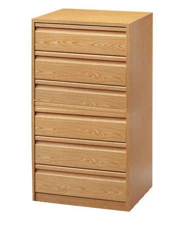 Cajonera para armario en 6 cajones Montada, dimensiones (60 ancho x 50 fondo x 106,5 de altura), color Nogal