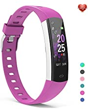 YoYoFit Slim Kids Fitness Tracker Heart Rate Monitor Watch, Kids Activity Tracker Waterproof Pedometer Watch for Kids, Digital Kids Alarm Clock Step Calorie Sleep Health Tracker as Best Fitness Gift