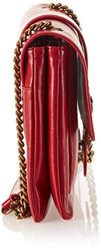 Vintage Rouge Rosso Vintage Big Sacs Vitello portés Pinko épaule Love Jolly FzPwUq8E