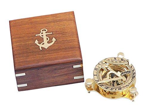 Brass Sundial Compass 3
