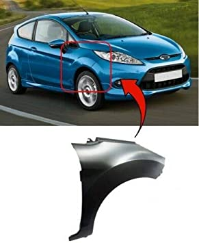 Trade Vehicle Parts FD1361 Front Wing Primed Driver Side Compatible With Fiesta Mk7 2008-2017