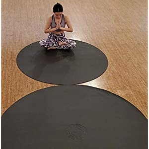 SISYAMA Circle Round 5′ 6′ TAI-CHI YIN-YANG Yoga Mat Meditation Pilates