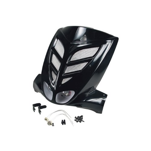 Noir Rev/êtement Avant BCD Xtreme avec Double Effet pour MBK Stunt//Yamaha Slider avec Racinggitter