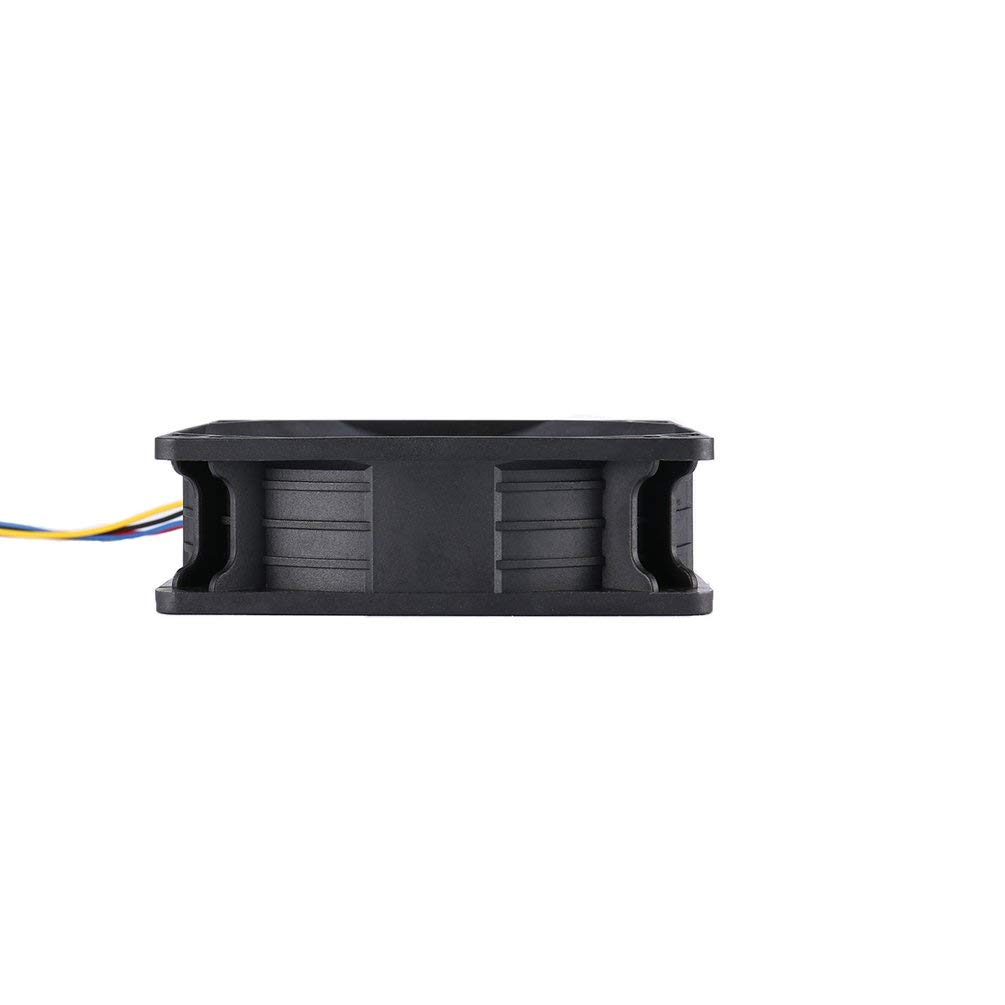 Negro-1 Justdodo 7500RPM DC12V 5.0A Ventilador de enfriamiento para minero para Antminer Bitmain S7 S9 Conector de 4 Pines Refrigerador de reemplazo sin escobillas Bajo Ruido