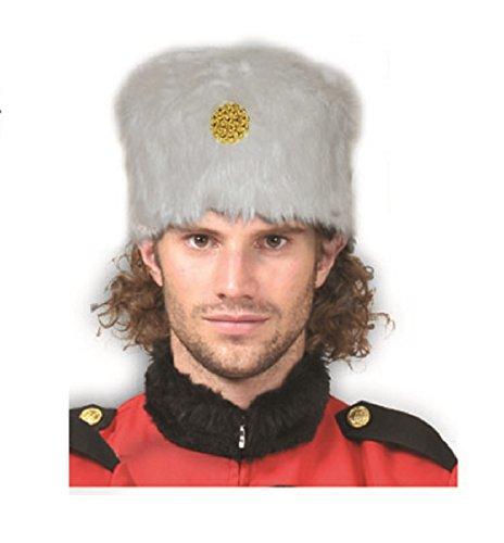 White Russian Cossack Kozak Faux Fur Hat Military Soldier Costume (Children's Russian Cossack Costume)