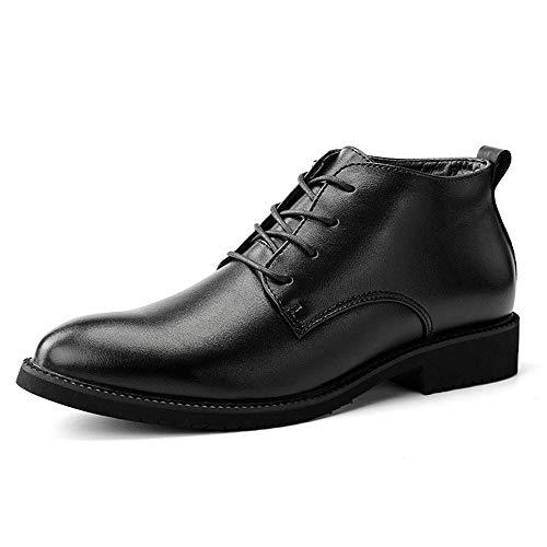 Xiaojuan-shoes, Scarpe da lavoro casual da uomo di alta moda casual autunno-inverno basse da uomo Oxford Business,Scarpe Uomo Pelle (Color : High-Top Black, Dimensione : 41 EU) High-top Black