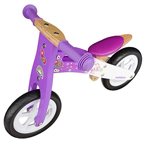 BIKESTAR-254cm-10-pulgadas-Bicicleta-sin-pedales-para-pequeos-aventureros-a-partir-de-2-aos–Edicin-de-madera-natural–Lila-Blanco