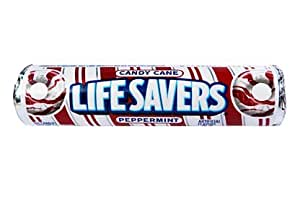 Limited Edition Candy Cane Lifesaver 14 Candy Roll (5 Pack) Peppermint Life Savers