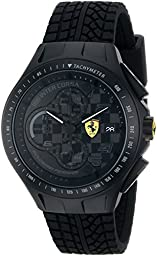 Ferrari Men\'s 0830105 Race Day Analog Display Quartz Black Watch