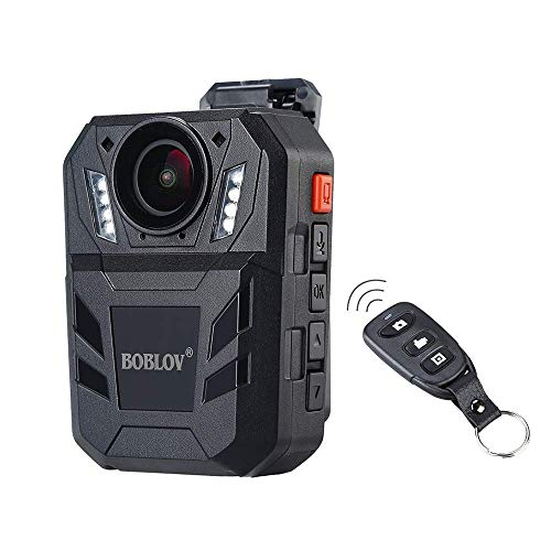BOBLOV Body Cam 1296P Portable Body Worn Mounted Camera 150 Degree Angle Support...