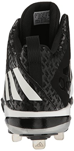 clearance new adidas Men's PowerAlley 4 Mid Metal Baseball Cleats Black/White/Metallic/Silver authentic cheap online latest sale online footlocker for sale 35GbZ
