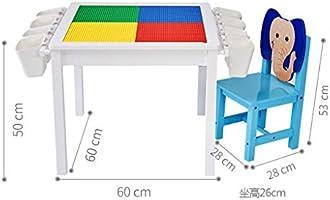 Juegos de mesas y sillas Mesa Para Niños Mesa De Juego Juego De Mesa Y Silla De Construcción De Rompecabezas Mesa Pequeña De Juguete Multifunción 1 Mesa 1 Silla (Color :