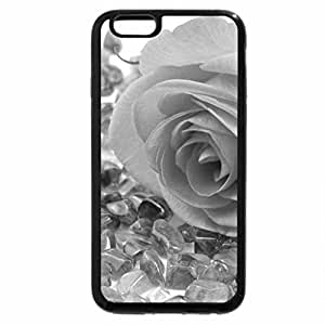 iPhone 6S Case, iPhone 6 Case (Black & White) - Soft touch of a rose