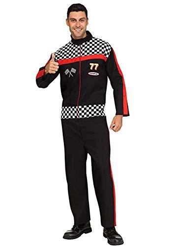 Fun World Men's Race Car Driver Costume Black