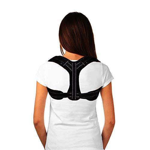 (Posture Corrector for Women & Men - Back Straightener Clavicle Brace Under Clothes (White Line))