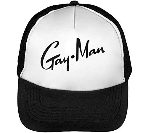 Beisbol Hombre Negro Snapback Gorras Gayban Gayman Funny Blanco wqxRRp
