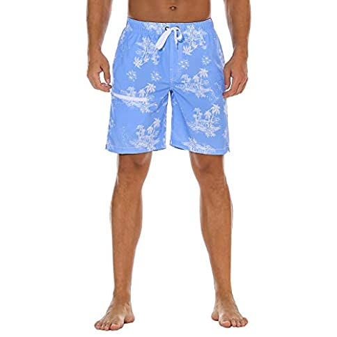 - 414wsNRqyiL - Nonwe Men's Swim Trunks Water Sport Cat Printed Quick Dry Drawsting